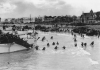 Canadian troops landing on D-Day on Juno beach.