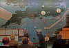 The map room at Southwick Park. The map is set for H-Hour, D-Day.