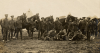 Transport and soldiers of the Queen's Own Rifles of Canada on manoeuvres in 1910.