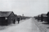 The wooden huts of D lines, c. 1890 shortly before they were demolished to make way for the brick barracks. These huts were part of the original Camp, built between 1854 and 1859.