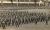 Parade of Canadian soldiers at the Aldershot Recreation Ground (football stadium) at the presentation of the Freedom of the Borough to the Canadian Army Overseas, on 26 Sept. 1945.