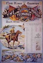 Preservation and conservation of important documents from the Boer War period. Illustrated is one of the documents, relating to the Imperial Yeomanry.